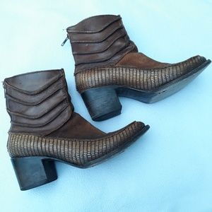 Freebird by Steven Crank Brown Leather Boots Sz6.5